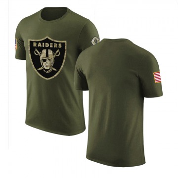 Youth Blank Las Vegas Raiders Olive Salute to Service Legend T-Shirt