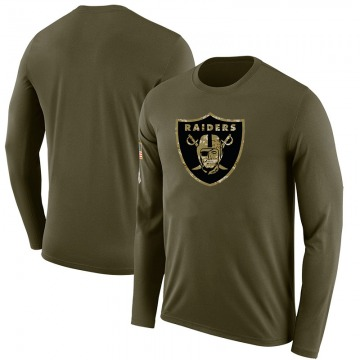 Youth Blank Las Vegas Raiders Salute to Service Sideline Olive Legend Long Sleeve T-Shirt