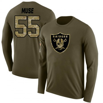 Youth Tanner Muse Las Vegas Raiders Salute to Service Sideline Olive Legend Long Sleeve T-Shirt